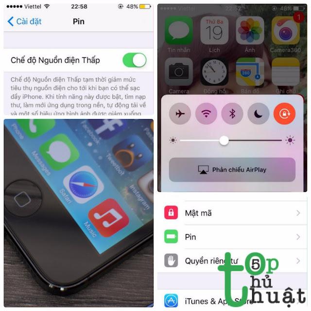 Bật mí 5 mẹo hay kéo dài thời lượng pin cho iOS 11