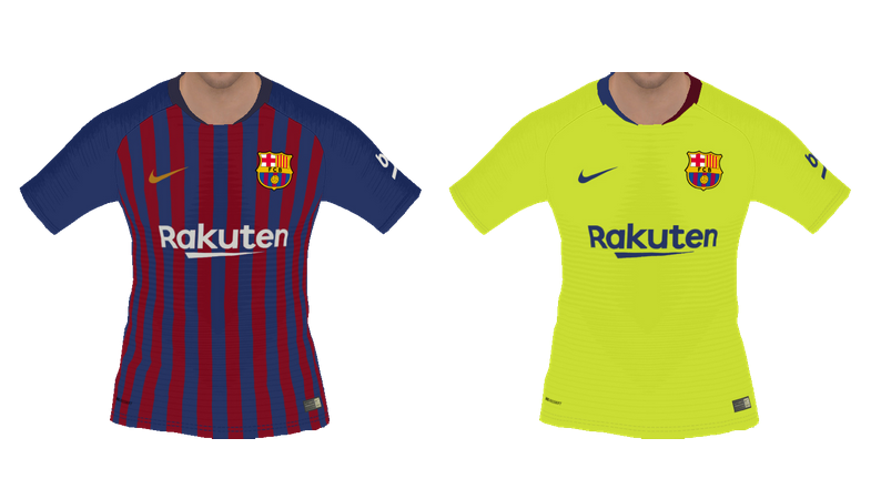 sale retailer b93d6 f6ea0 PES 2018 Barcelona 2018-2019 Home-Away Kits