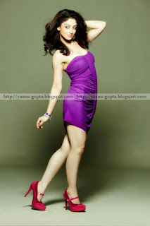 Sandeepa Dhar In Purple Skirt With Red High Heels