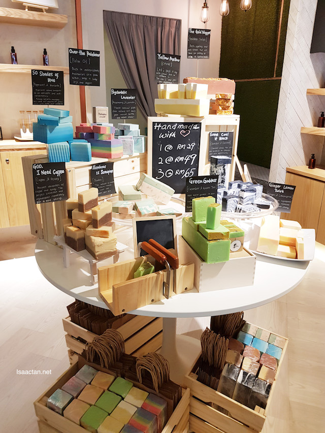 Various products on display on the ground floor of The Rub Bar KL