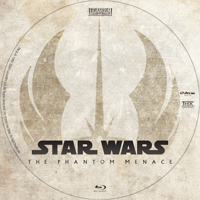 Star Wars: Episode I - The Phantom Menace Bluray Label