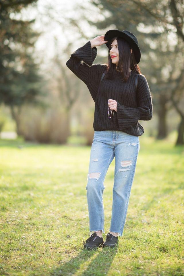 sweter rękawy bell sleeves jak nosić