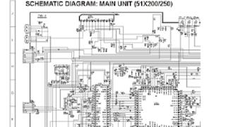 Skema TV SHARP 51X200, 51X250, 51X500 (GA-2)