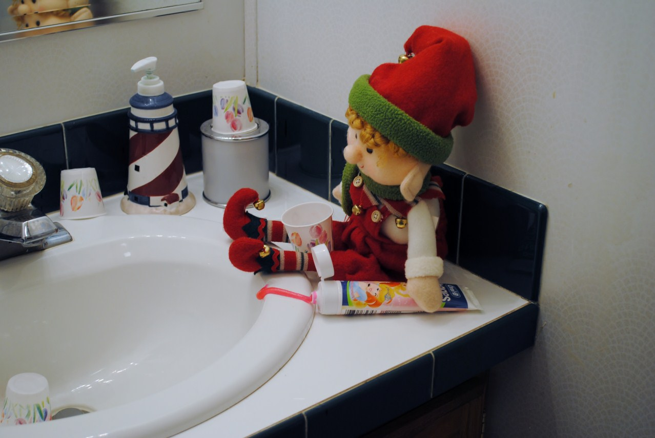 Blessed Beyond Measure Elf On The Shelf Day 9 Potty Time