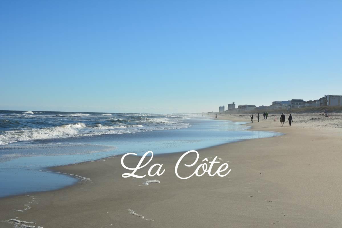 Sur la plage de Caroline du Nord