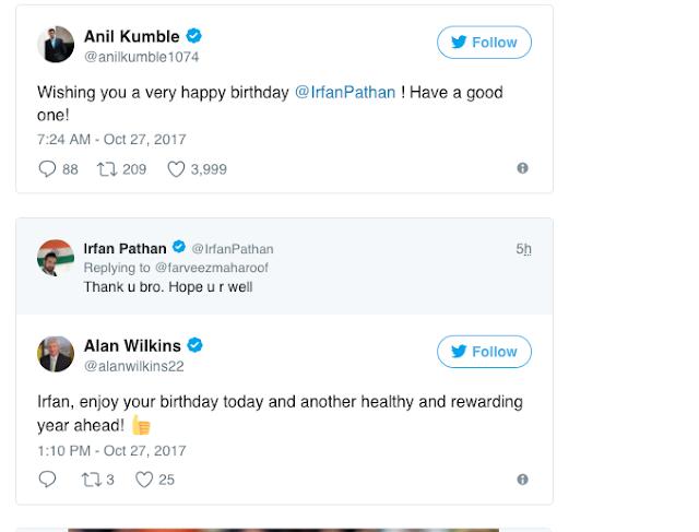 Irfan Pathan - Suresh Raina;twitter; birthday wishes