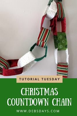 Homemade Christmas Countdown Fabric Chain Link Sewing Project