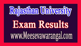 Rajasthan University B.Com Part-1 Rev 2016 Exam Results