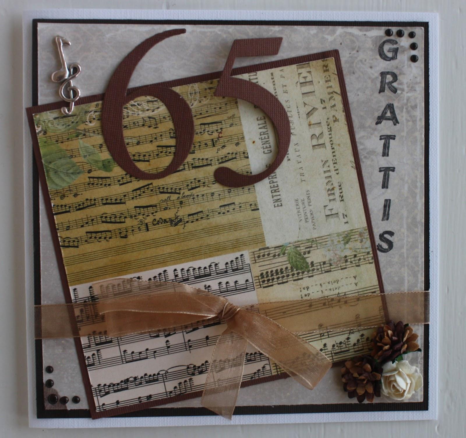 födelsedagskort 65 år Pyssel och Kort: juni 2013 födelsedagskort 65 år