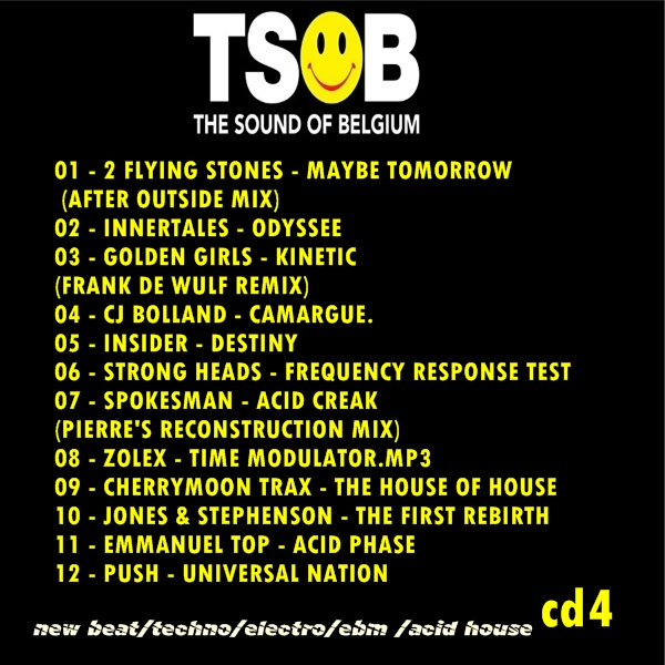 Extreme tapes flashback the sound of belgium 4cds for Acid house cd