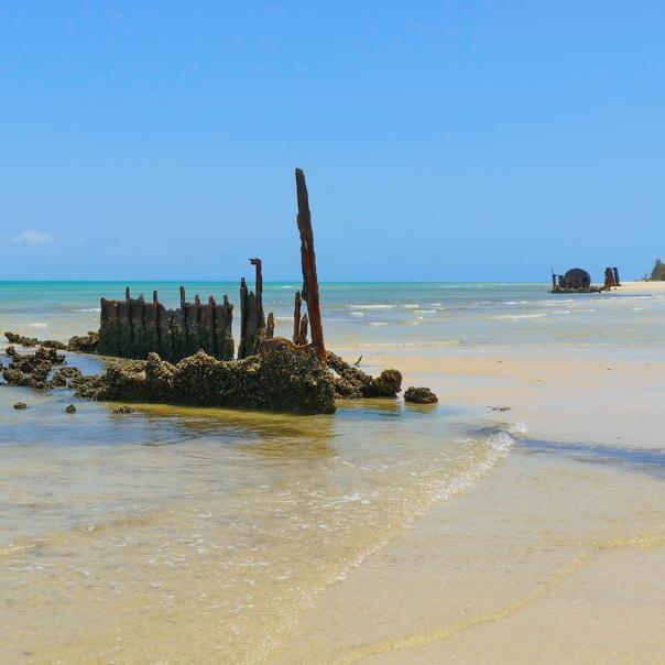 Normanby Fairlight Schiff Wrack Wreck Moreton Island Gerippe Kessel Dampfschiff