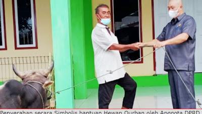 DRT Serahkan Bantuan Hewan Qurban Pemprov Sulut kepada Jamaah Al'Taqwa Kampung Petta