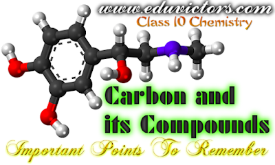 CBSE Class 10 - Chemistry - Chapter 4 - Carbon and its Compounds - Important Points To Memorise (#cbsenotes)