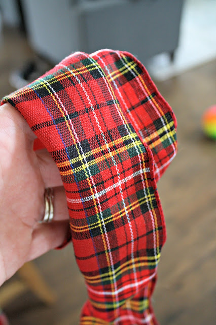 Red plaid ribbon