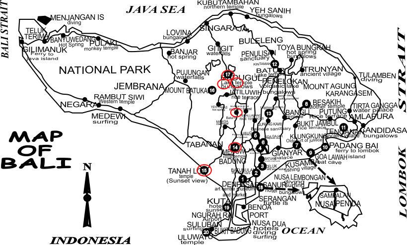 Itineraries Bedugul Botanical Garden Tour