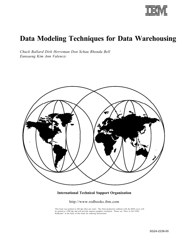 Book Download: Data Modeling Techniques for Data Warehousing