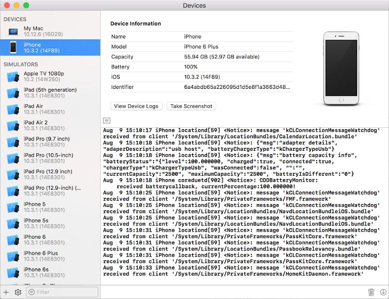 展開後可以看到裝置的即時 log