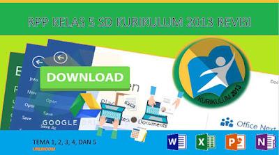 Download RPP Kurikulum 2013 Kelas 5 Semester 1