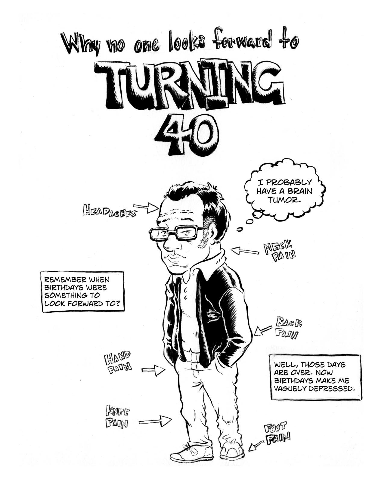 Men 40 Turning Quotes