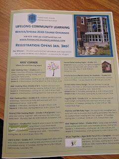 Lifelong Community Learning: Winter/Spring 2018 Registration is Open