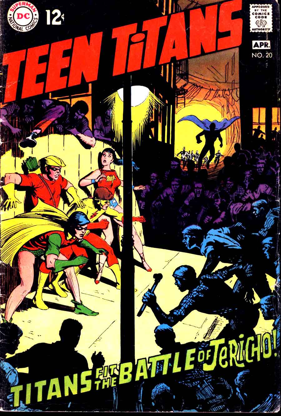 Teen Titans v1 #20 dc comic book cover art by Nick Cardy