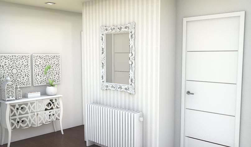 Arantxa amor decoraci n decoraci n pasillo peque o - Papel pintado pasillo ...