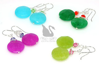 Tutti Frutti Handmade Gemstone Beaded Earrings