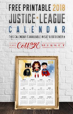2018 justice league calendar
