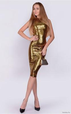 Vestidos con lentejuelas doradas