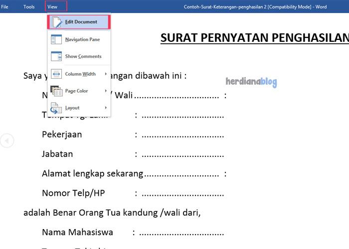 Edit-Document-Restrict-Editing