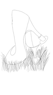 Plastikowe nakładki na obcasy ułatwiające chodzenie po np. trawie.