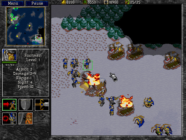 Screenshot from Warcraft II