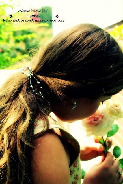 Let Him Plant The Seeds | woman smelling roses | rosevinecottagegirls.com