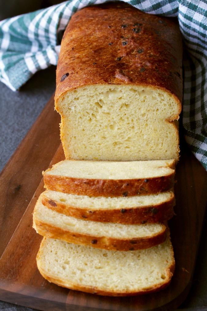 Cheesy Zucchini Sandwich Bread