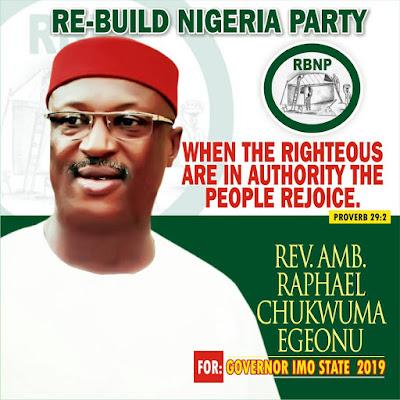 Imo governorship candidate, Chukwuma Egeonu