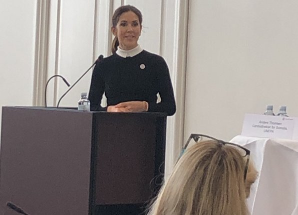 Crown Princess Mary attended the conference Sexual and Reproductive Health and Rights in Humanitarian Crises at Christiansborg