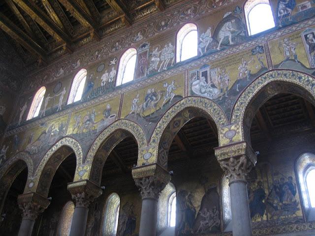 Mosaicos del interior de la Catedral Normanda de Monreale