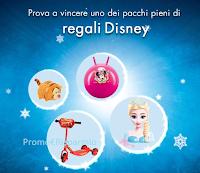 Logo Vinci gratis 10 pacchi regalo con prodotti Disney