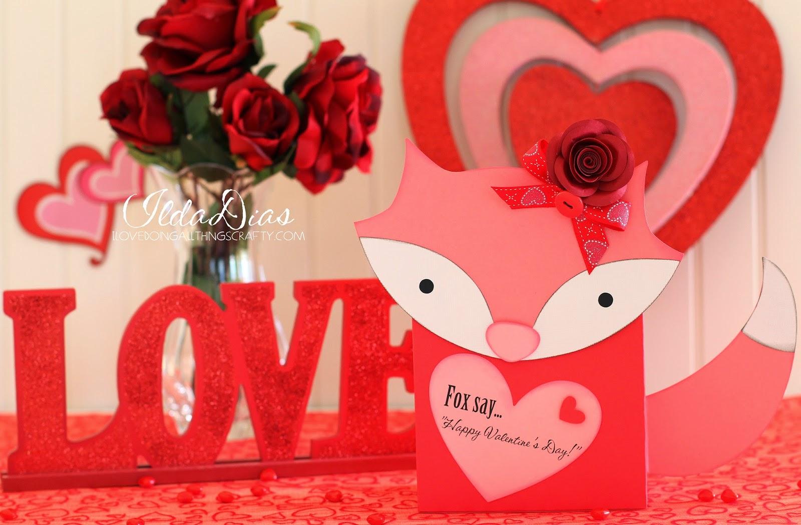 Foxy Valentine's Day Paper Mailbox | SVGCuts Files