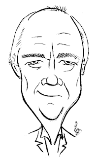Tim Rice Caricature by Ian Davy Brown