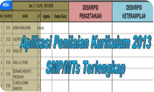 Aplikasi Penilaian Kurikulum 2013 SMP/MTs Terlengkap