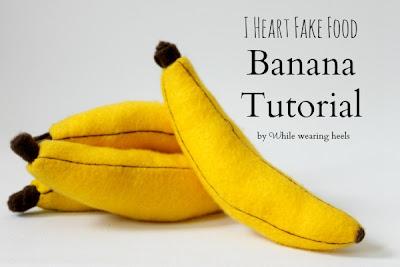 wwh+071 banana - Banana de feltro