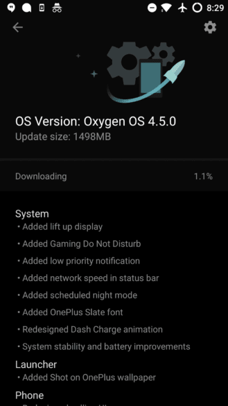 Update Oxygen OS v4.5.0 on OnePlus 3/3T