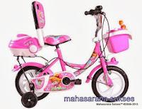 Sepeda Anak Evergreen AH42 Princess dengan Sandaran 12 Inci