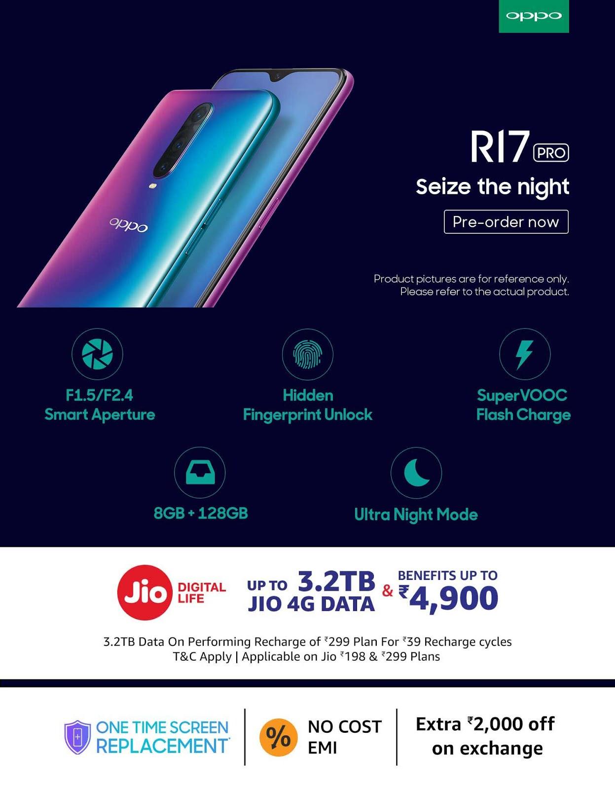 Pre-order ] Oppo R17 Pro in Stock on Amazon India | Price