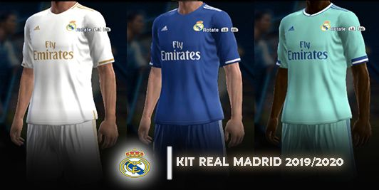 info for 2684f 58e64 PES 2013 Kit: Real Madrid 19-20 Home, Away, Third Kit by RVP ...
