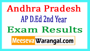 Andhra Pradesh AP D.Ed 2nd Year Exam Results 2017