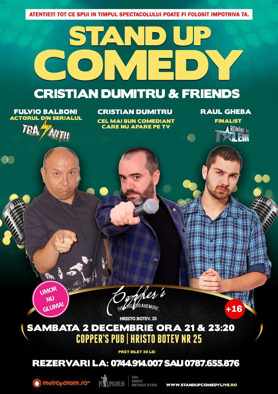 Stand-Up Comedy Bucuresti Sambata 2 Decembrie 2017