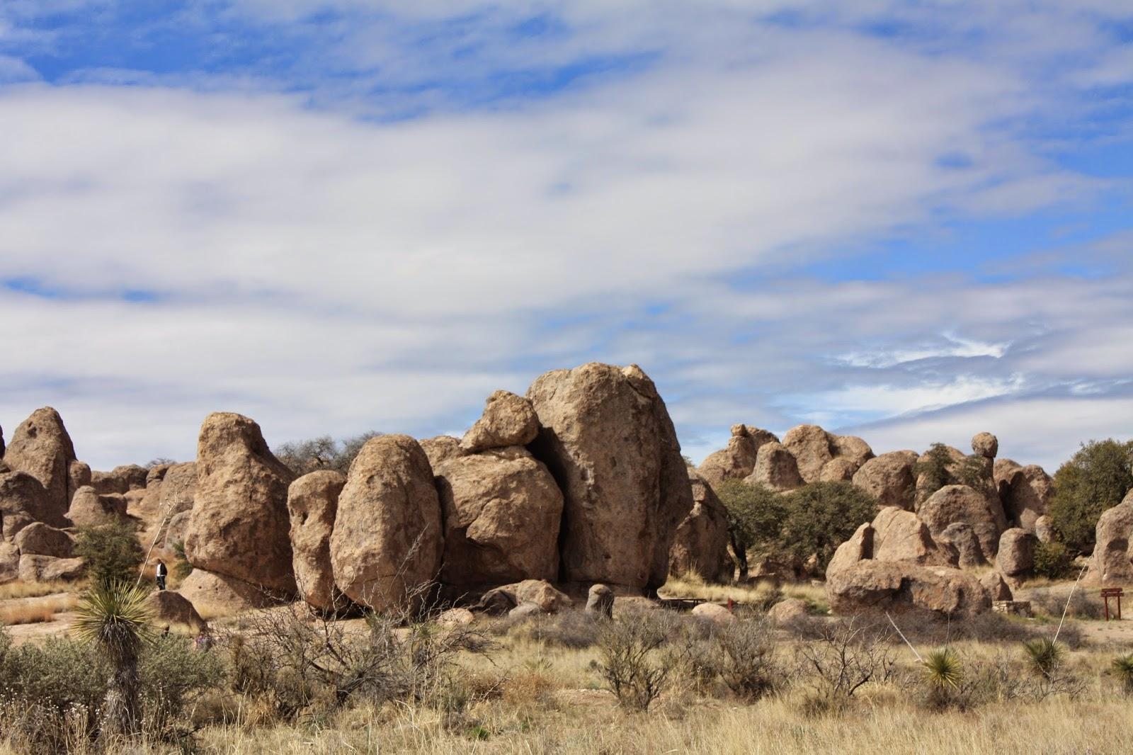 Large boulders some are 40 feet high