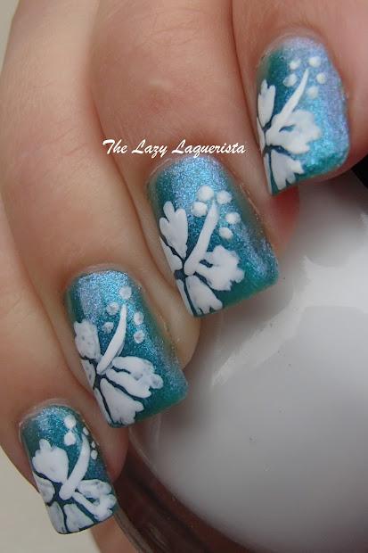 manicure manifesto hawaiian flower